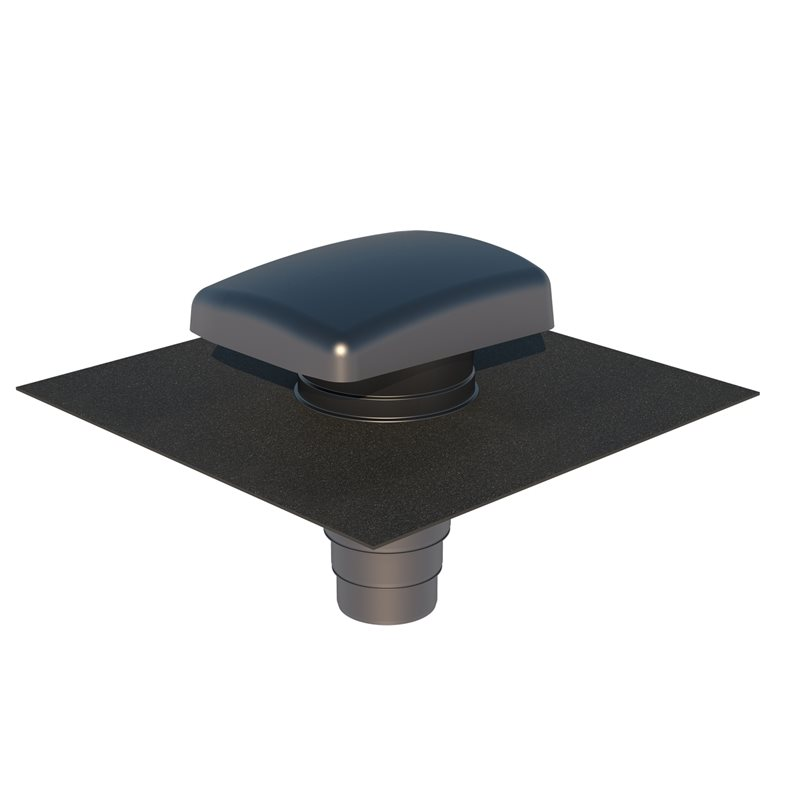 Ventilation Tile Hooded Universal UB41 + Adaptor Anthracite