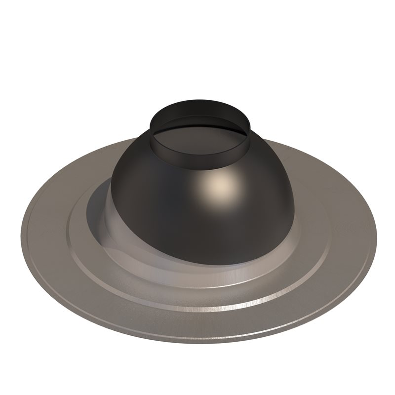 Rain collar for low pitched roofs 131 Black 5-25°